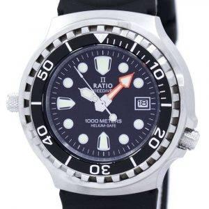 Ratio Free Diver Helium Safe 1000M Quartz 1038EF102V Men's Watch