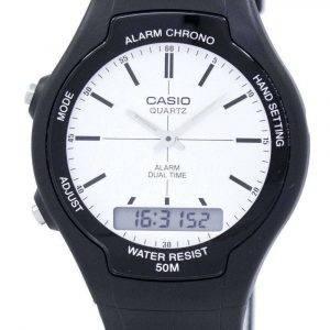 Casio Dual Time Alarm Quartz Analog Digital AW-90H-7EV AW90H-7EV Men's Watch