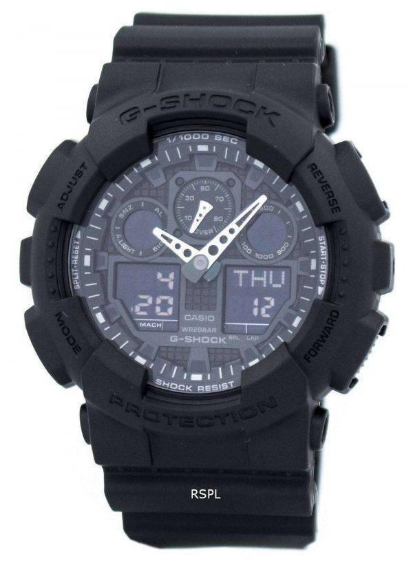 Casio G-Shock Military Matte Black GA-100-1A1 Mens Watch