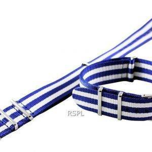 Blue And White Nato Strap 22mm