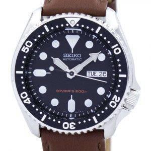 Seiko Automatic Diver's 200M Ratio Brown Leather SKX007K1-LS12 Men's Watch