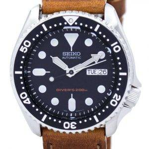 Seiko Automatic Diver's 200M Ratio Brown Leather SKX007K1-LS9 Men's Watch