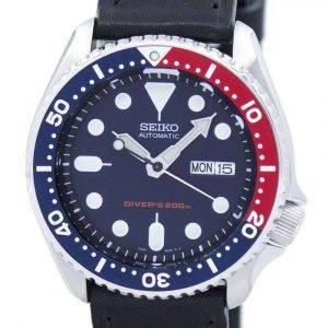 Seiko Automatic Diver's 200M Ratio Black Leather SKX009K1-LS8 Men's Watch
