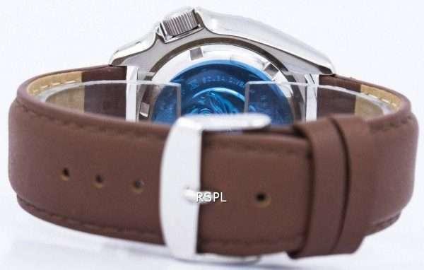 Seiko Automatic Diver's Ratio Brown Leather SKX011J1-LS12 200M Men's Watch