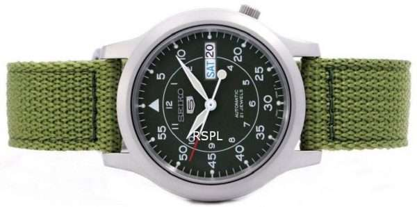 Seiko Automatic Military Nylon Mens Watch SNK805K2