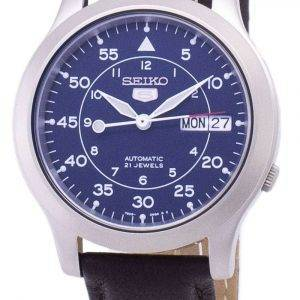 Seiko 5 Military SNK807K2-SS4 Automatic Brown Leather Strap Men's Watch