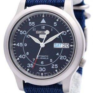 Seiko Automatic Military Nylon Mens Watch SNK807K2