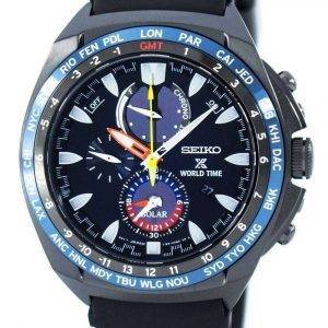 Seiko Prospex World Time Solar Chronograph SSC551 SSC551P1 SSC551P Men's Watch