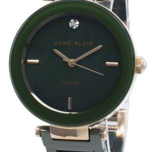 Anne Klein 1018RGGN Diamond Accents Quartz Women's Watch