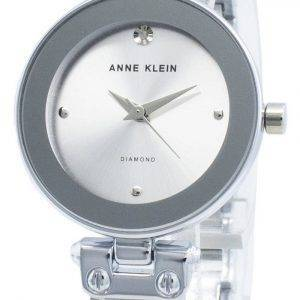 Anne Klein 1981LGSV Diamond Accents Quartz Women's Watch