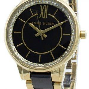 Anne Klein 3344BKGB Diamond Accents Quartz Women's Watch