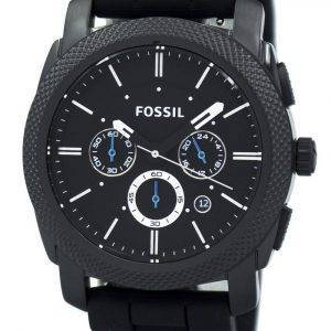 Fossil Machine Chronograph Black Silicone Strap FS4487 Men's Watch