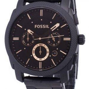 Fossil Machine Mid-Size Chronograph Black IP Stainless Steel FS4682 Men's Watch