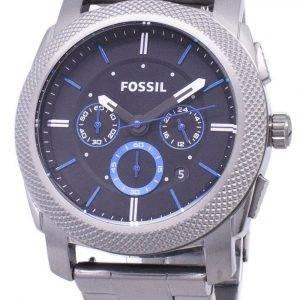 Fossil Machine Quartz Chronograph Black Dial Gunmetal Ion-Plated FS4931 Men's Watch