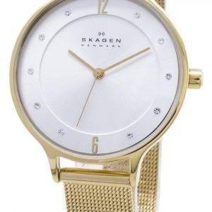 Skagen Anita Gold Tone Mesh Bracelet Crystallized SKW2150 Women's Watch
