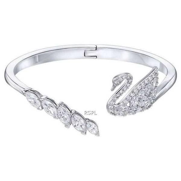 Swarovski 5258396 Swan Lake White Rhodium Plated Women's Bracelet