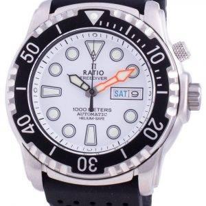 Ratio Free Diver Helium-Safe 1000M Sapphire Automatic 1068HA90-34VA-WHT Men's Watch