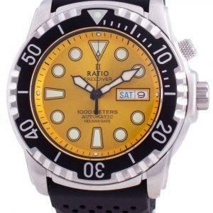 Ratio Free Diver Helium-Safe 1000M Sapphire Automatic 1068HA90-34VA-YLW Men's Watch
