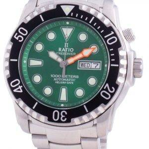 Ratio Free Diver Helium-Safe 1000M Sapphire Automatic 1068HA96-34VA-GRN Men's Watch