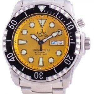 Ratio Free Diver Helium-Safe 1000M Sapphire Automatic 1068HA96-34VA-YLW Men's Watch