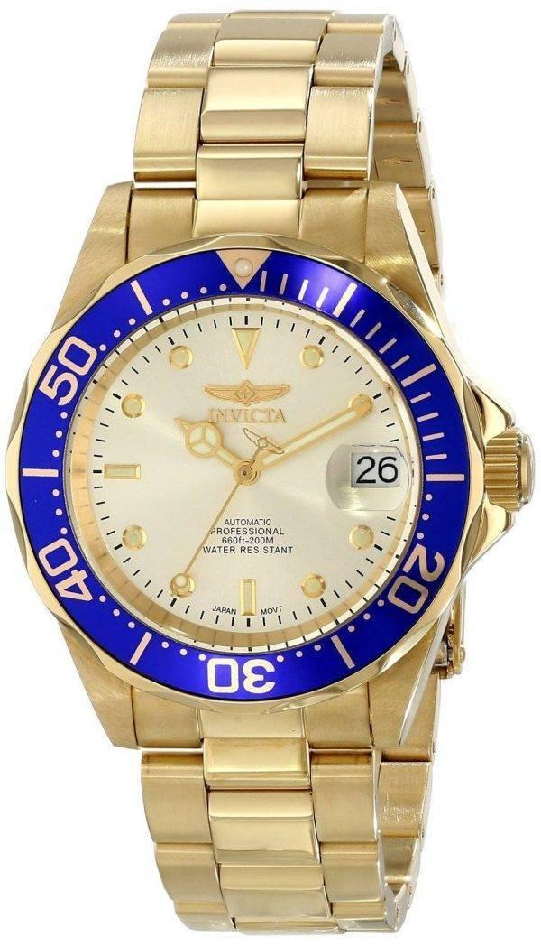 Invicta Automatic Pro Diver 200M Champaign Dial 9743 Men's Watch