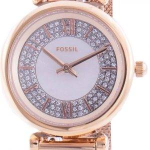 Fossil Carlie Mini ES4836 Quartz Diamond Accents Women's Watch