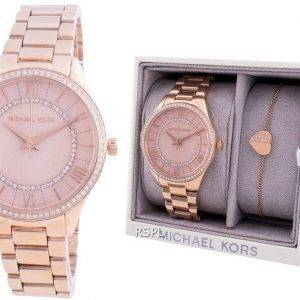 Michael Kors Lauryn MK4491 Quartz Diamond Accents With Gift Set Women's Watch