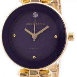 Anne Klein 1980PLGB Quartz Diamond Accents Women's Watch