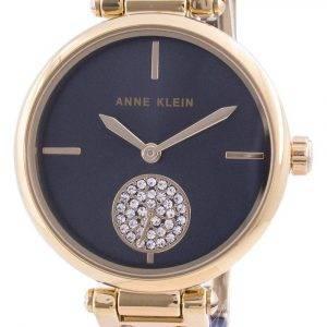 Anne Klein Swarovski Crystal Accented 3001GPBL Quartz Women's Watch