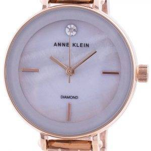 Anne Klein 3386LGRG Quartz Diamond Accents Women's Watch