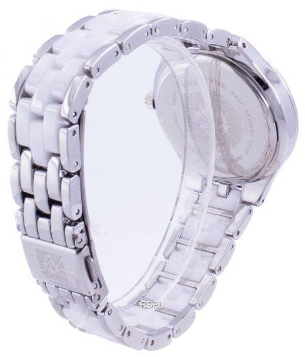 Anne Klein Swarovski Crystal Accented 3549WTSV Quartz Women's Watch