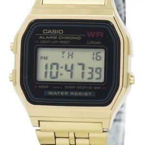 Casio Digital Alarm Chrono Stainless Steel A159WGEA-1DF A159WGEA-1 Women's Watch