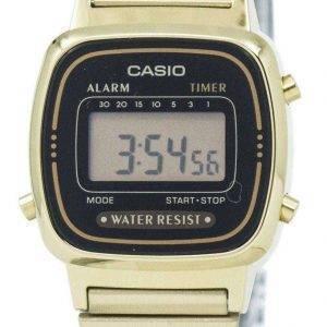 Casio Digital Stainless Steel Alarm Timer LA670WGA-1DF LA670WGA-1 Women's Watch