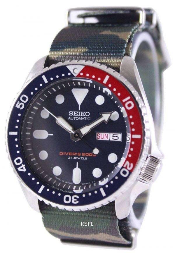Seiko Automatic Diver's 200M Army NATO Strap SKX009J1-NATO5 Men's Watch