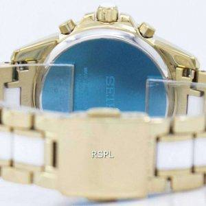 Seiko Sportura Chronograph Quartz Tachymeter SNDX02 SNDX02P1 SNDX02P Women's Watch