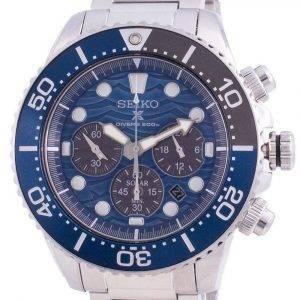 Seiko Prospex Diver's Save The Ocean SSC741 SSC741P1 SSC741P Solar Chronograph Special Edition 200M Men's Watch