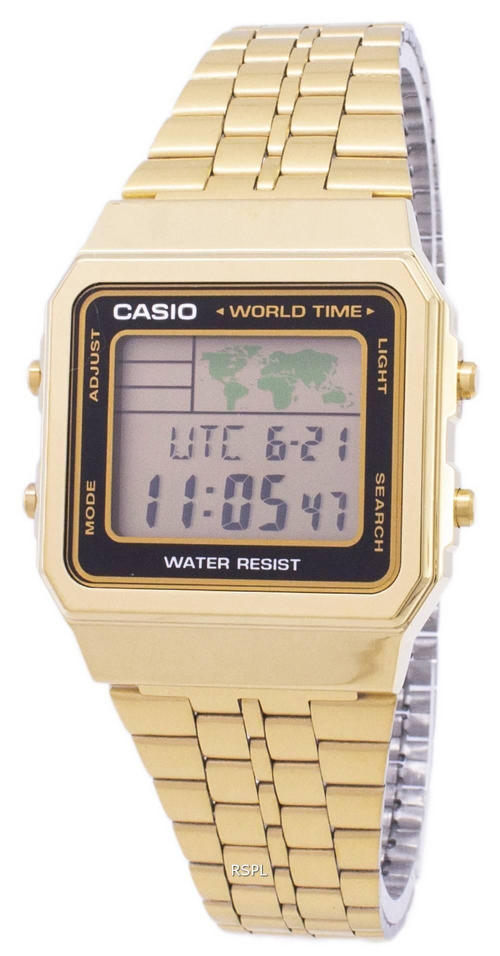 Casio Digital Stainless Steel World Time A500WGA-1DF A500WGA-1 Men's Watch