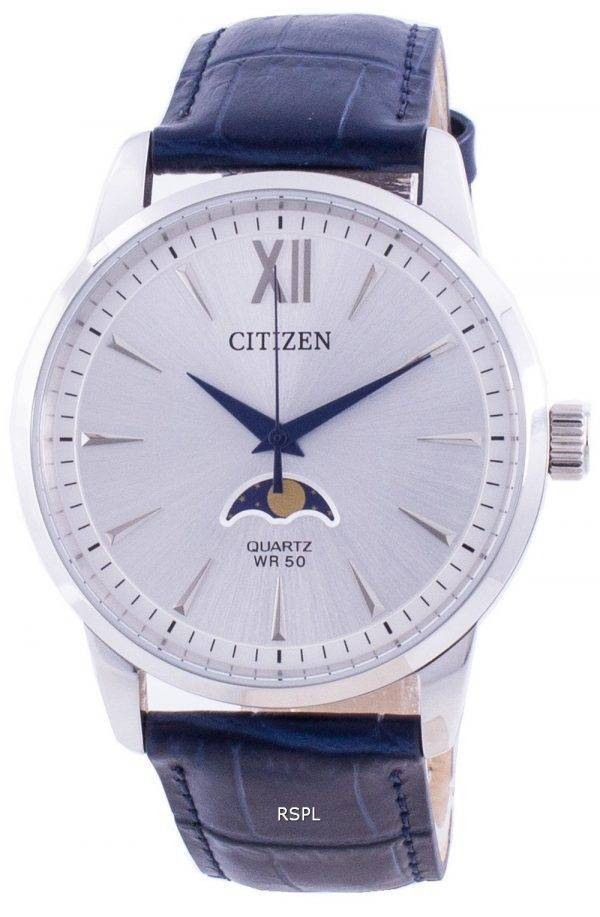 Citizen Moonphase Silver Dial Quartz AK5000-03A Men's Watch