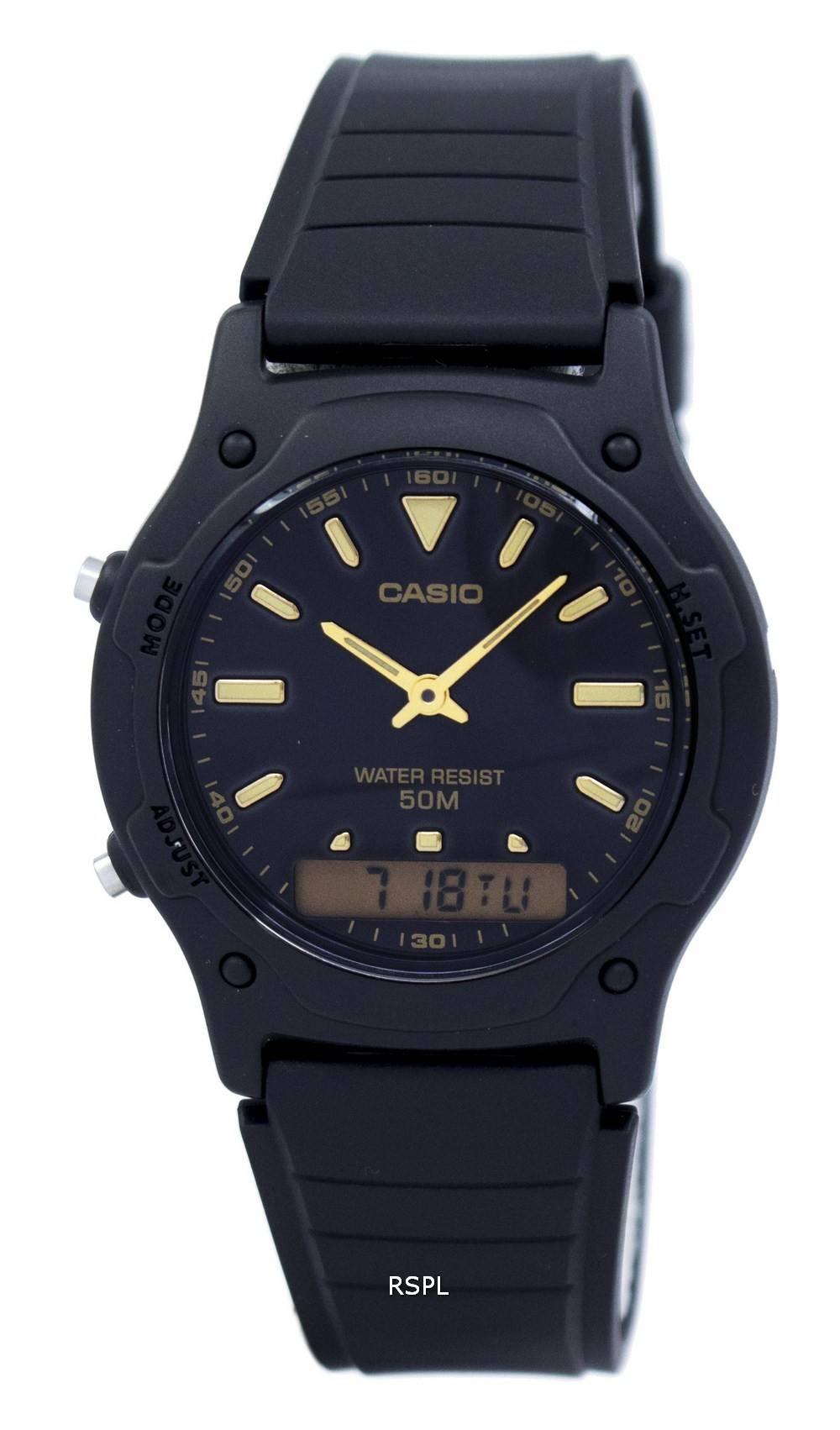 Casio Analog Digital Quartz Dual Time AW-49HE-1AVDF AW49HE-1AVDF Men's Watch