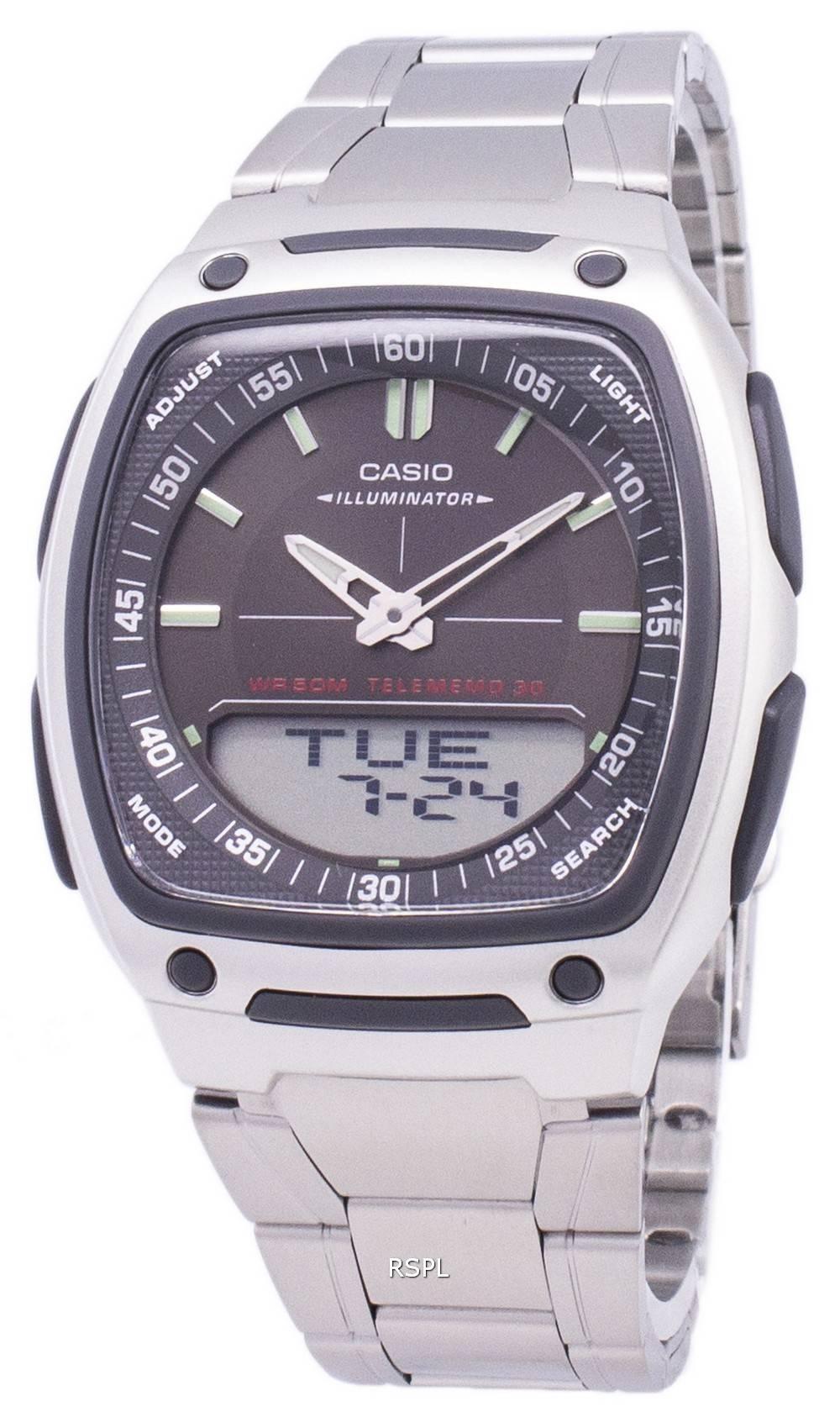 Casio Analog Digital Telememo Illuminator AW-81D-1AVDF AW-81D-1AV Men's Watch