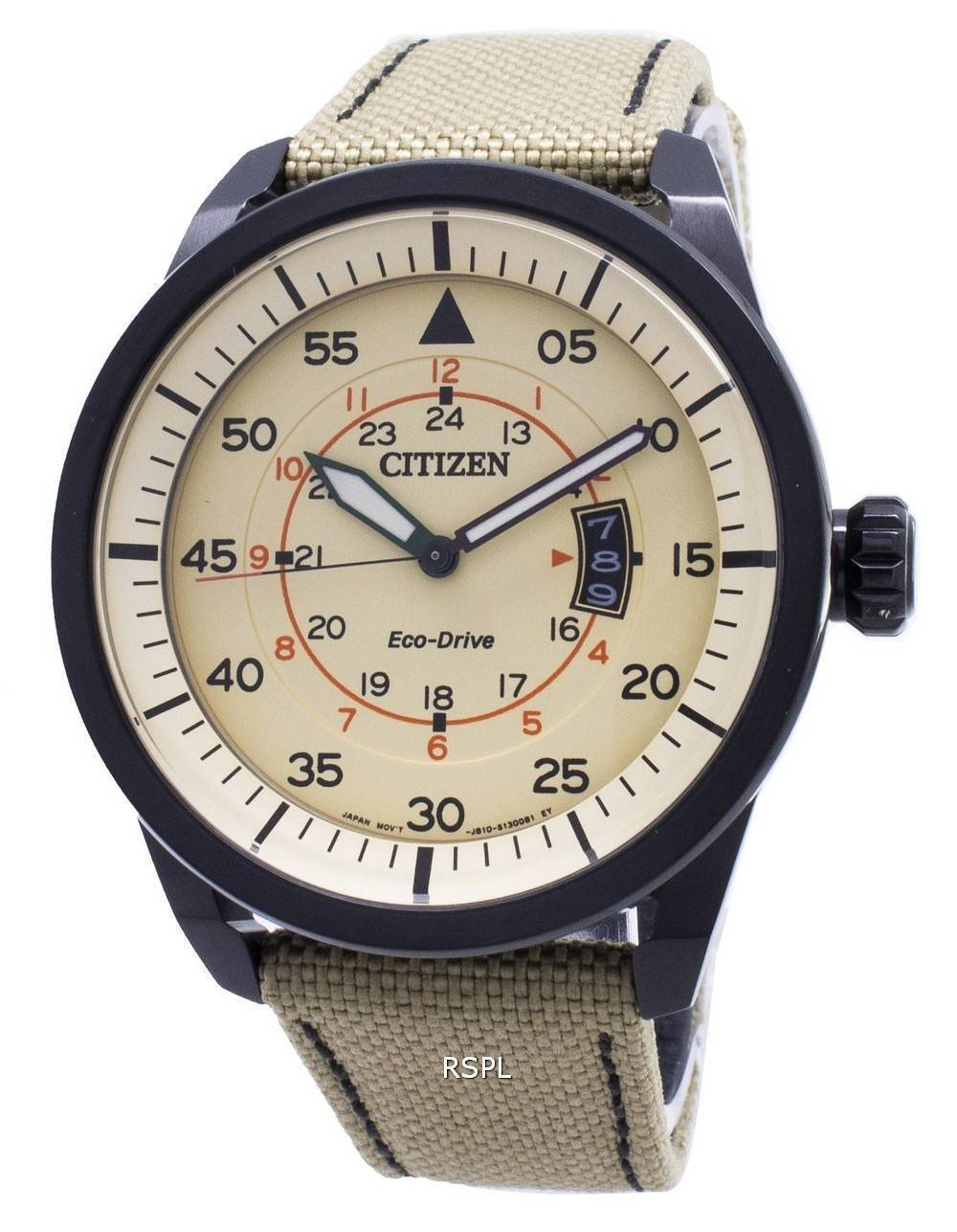 Citizen Eco-Drive Aviator Power Reserve AW1365-19P Men's Watch