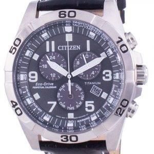 Citizen Brycen Super Titanium Perpetual Calendar Eco-Drive BL5551-14H 100M Men's Watch