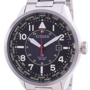 Citizen Promaster Nighthawk World Time Eco-Drive BX1010-53E 200M Mens Watch