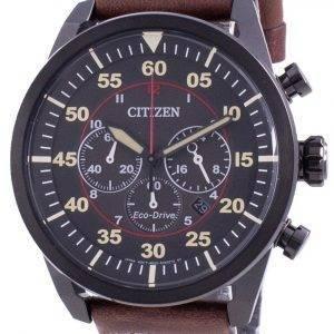 Citizen Chronograph Calf Leather Eco-Drive CA4218-14E 100M Men's Watch