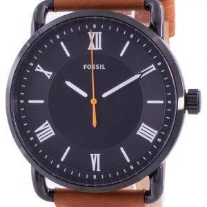Fossil Copeland Black Dial Leather Strap Quartz FS5667 Men's Watch