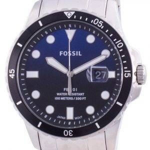 Fossil FB-01 Blue Dial Stainless Steel Quartz FS5668 100M Men's Watch