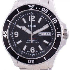 Fossil FB-02 Black Dial Stainless Steel Quartz FS5687 100M Men's Watch