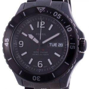 Fossil FB-02 Black Dial Stainless Steel Quartz FS5688 100M Men's Watch