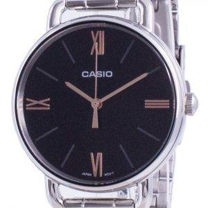 Casio Black Dial Stainless Steel Quartz LTP-E414D-1A LTPE414D-1A Women's Watch