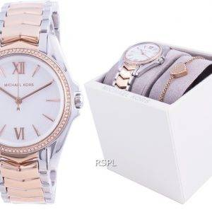 Michael Kors Whitney Diamond Accents Quartz MK1023 With Gift Set Women's Watch